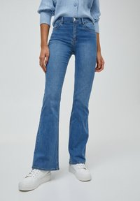 PULL&BEAR - FLARE - Bootcut jeans - dark blue - 0