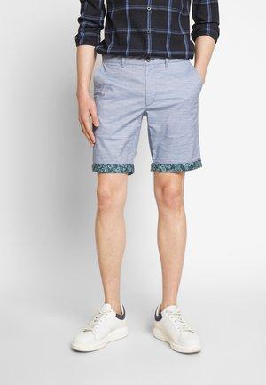 SLUB CONTRAST - Shorts - cadet navy