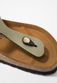 Birkenstock - GIZEH - T-bar sandals - icy metallic stone gold - 5