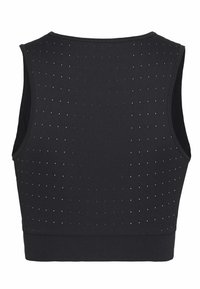 Nike Performance - AEROSWIFT CROP - Sports shirt - black/white - 1