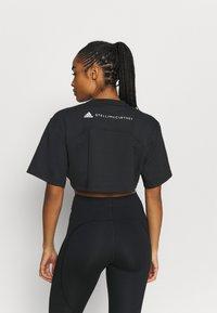 adidas by Stella McCartney - CROP TEE - T-shirt print - black - 2