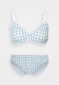 Monki - BIBBI BRA AND BRIEF SET - Bikini - blue - 0