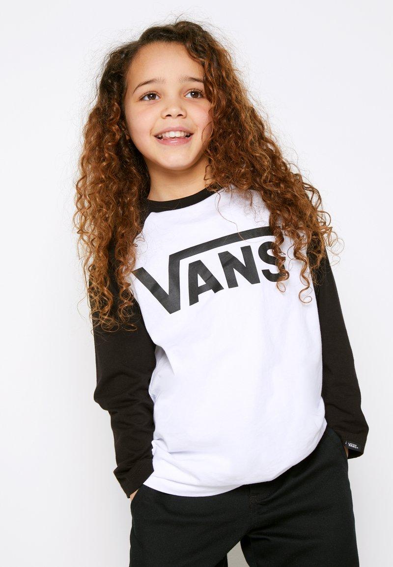 Vans - CLASSIC RAGLAN BOYS - Long sleeved top - white/black