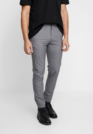 SLIM STRIPE - Tygbyxor - grey