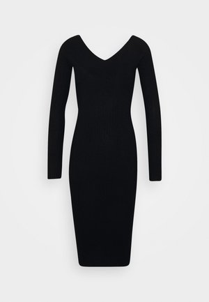 JUMPER DRESS - Etuikjoler - black