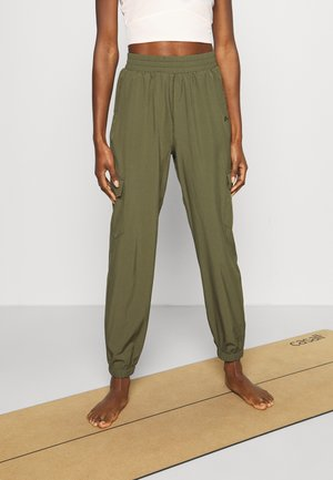 ONPOLEA LOOSE - Tracksuit bottoms - ivy green