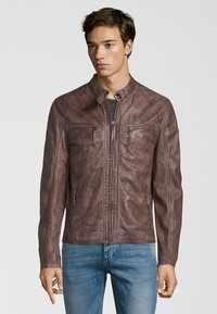 Gipsy - BARNY LAJUV - Leather jacket - dusty brown - 0
