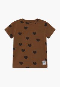 Mini Rodini - HEARTS TEE - Print T-shirt - brown - 0