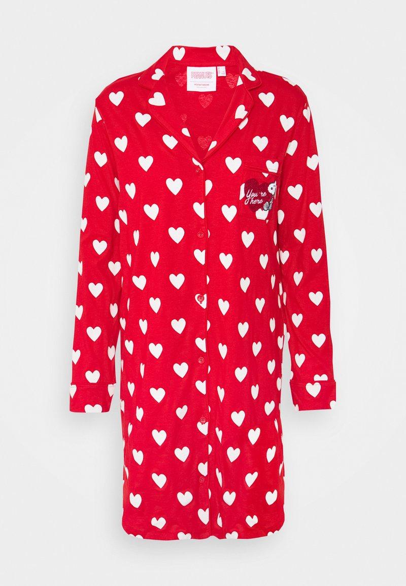 Women Secret - HEARTS  - Noční košile - red
