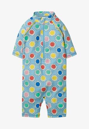Swimsuit - cloudy blue daisy
