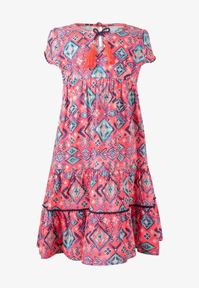 Sukienka letnia - neon pink