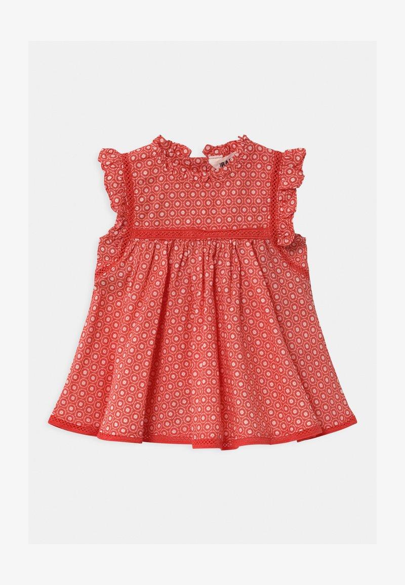 Cotton On - FLUTTER SLEEVE  - Day dress - red orange/vanilla polly