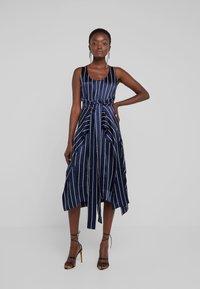 HUGO - KABILLY - Cocktail dress / Party dress - dark blue/white - 0