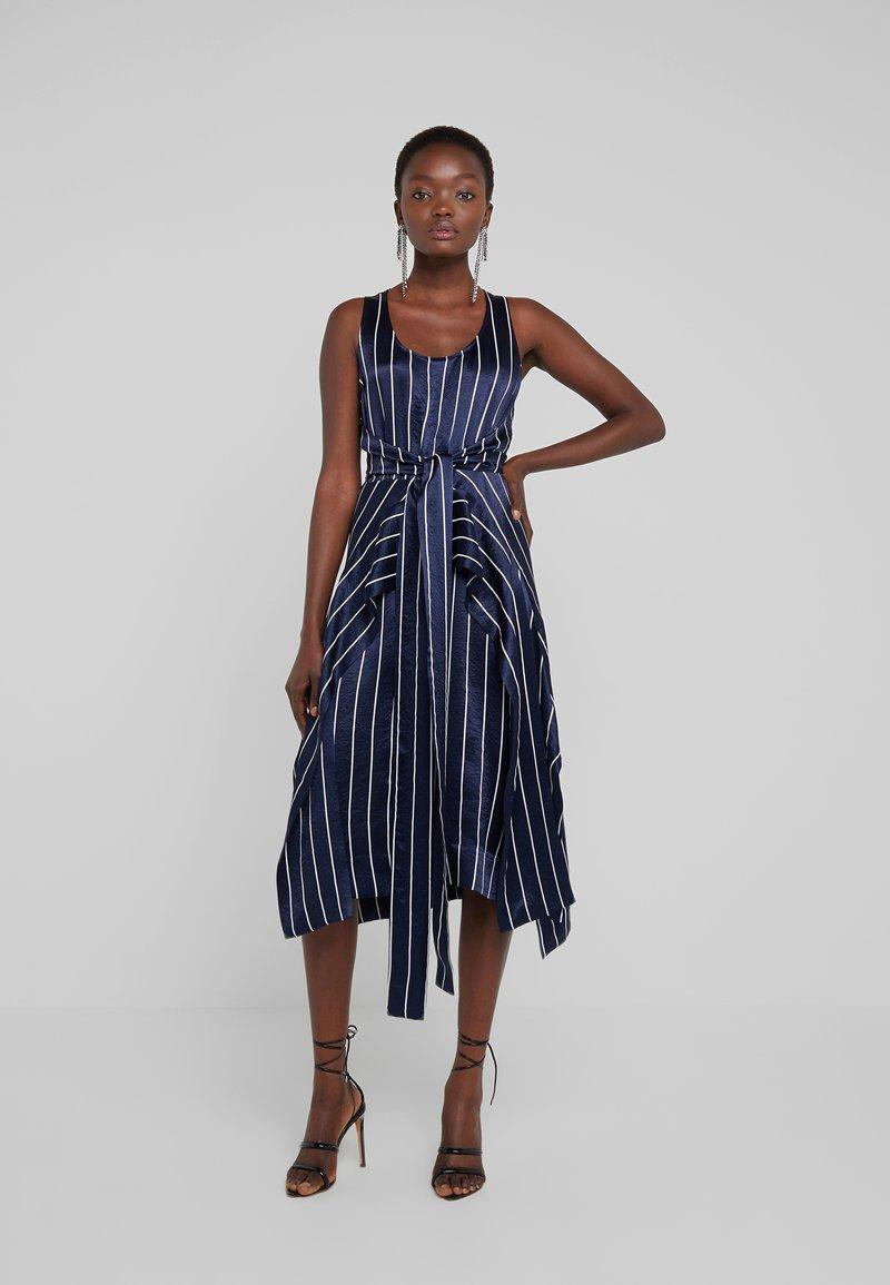 HUGO - KABILLY - Cocktail dress / Party dress - dark blue/white