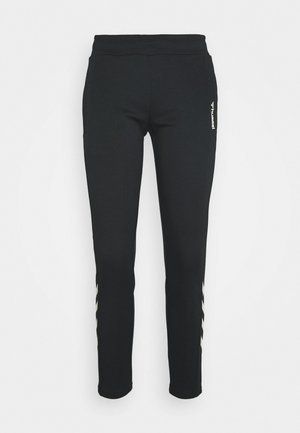 HMLZIBA TAPERED PANTS - Trainingsbroek - black