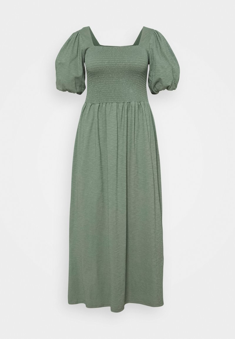 Vero Moda Curve - VMALINA ANKLE SMOCK DRESS  - Maxi dress - laurel wreath