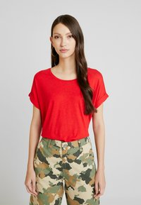 ONLY - ONLMOSTER ONECK - T-shirts - high risk red - 0