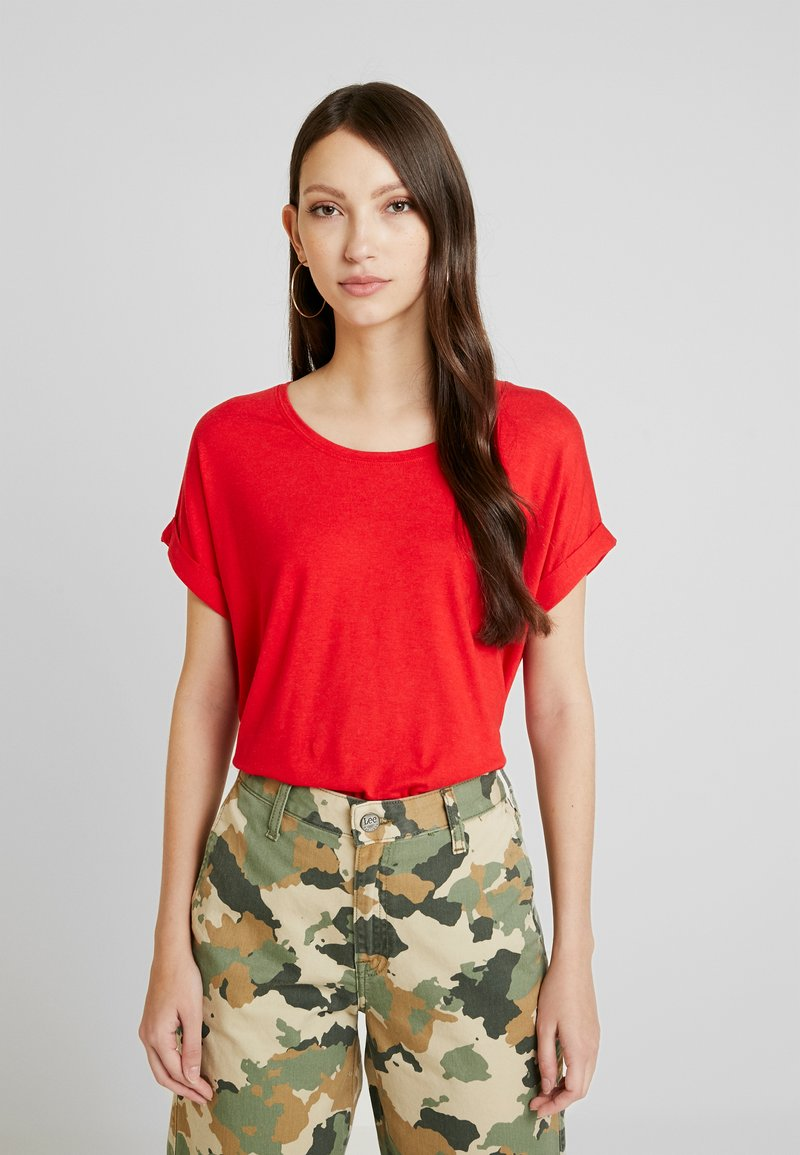 ONLY - ONLMOSTER ONECK - T-shirts - high risk red