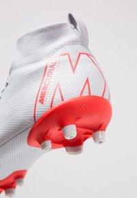 Nike Performance - MERCURIAL 6 ACADEMY MG - Moulded stud football boots - wolf grey/light crimson/pure platinum/metallic silver - 2