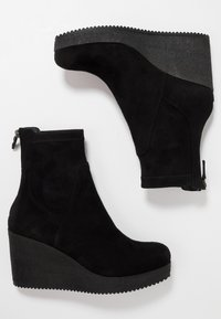 Homers - MICRO - Wedge Ankle Boots - black - 3