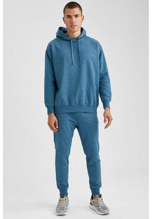 OVERSIZED - Felpa con cappuccio - blue