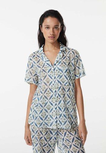FLORAL - Pyjama top - blue