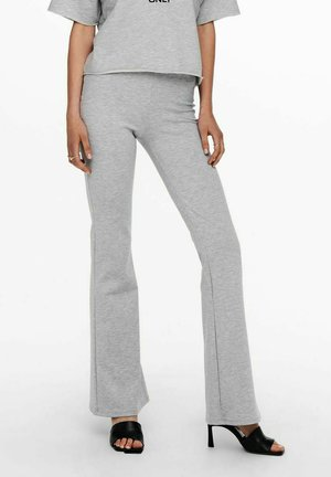 ONLFEVER FLAIRED PANTS - Trousers - light grey melange