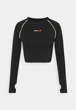 HONORATA CROP - Long sleeved top - black