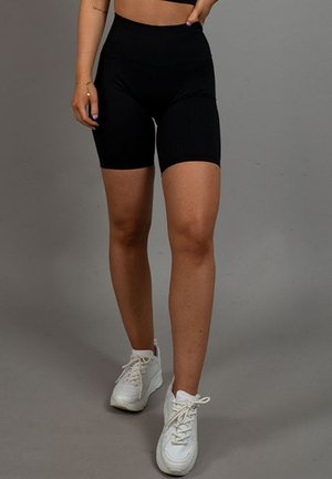 RIBBED - Shorts - black