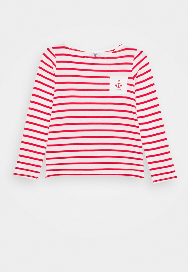 LANDRY TEE - Long sleeved top - marshmallow/peps