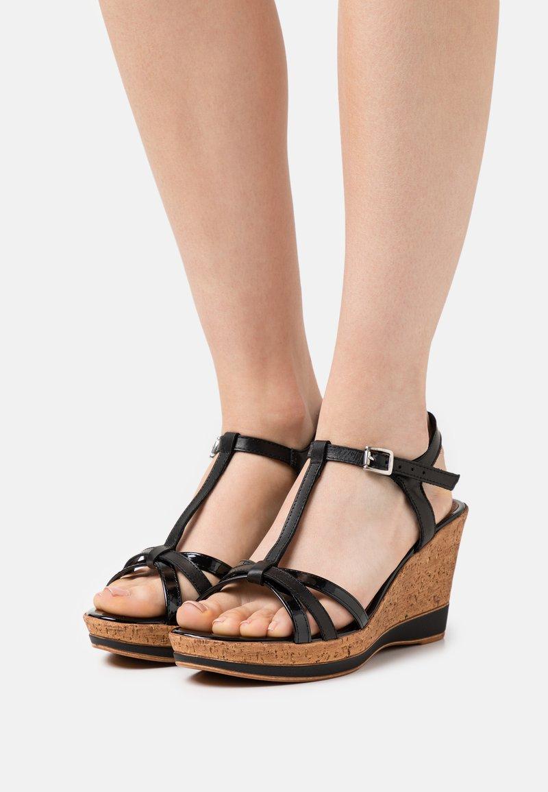 Tamaris - Platform sandals - black