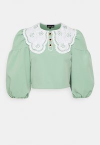 Sister Jane - TOURNAMENT COLLAR CROPPED BLOUSE - Blouse - green - 4