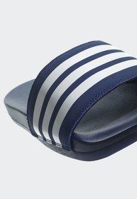 adidas Performance - ADILETTE CLOUDFOAM PLUS STRIPES SLIDES - Badslippers - blue - 8