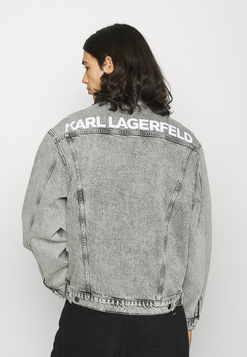 KARL LAGERFELD - JACKET UNISEX - Denim jacket - light grey