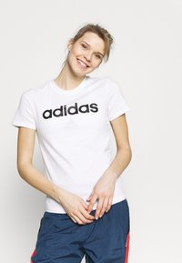 adidas Performance - Print T-shirt - white/black - 0