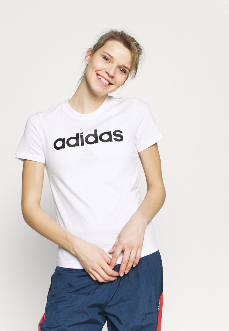 adidas Performance - Print T-shirt - white/black