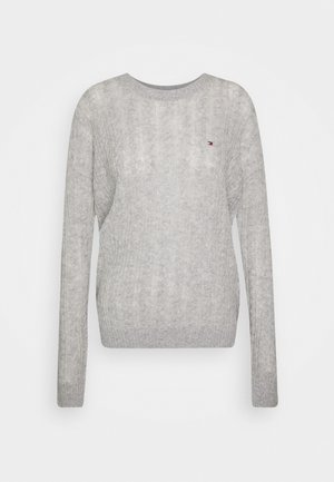 CABLE - Pullover - light grey heather