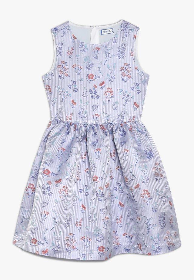 Koktejlové šaty/ šaty na párty - brunnera blue