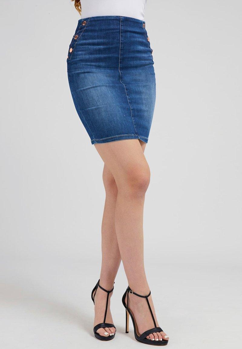 Guess - Denim skirt - blau