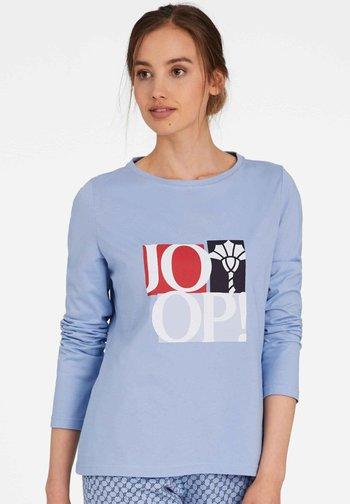 LANGARM MIT LOGO - Pyjama top - bel air blue