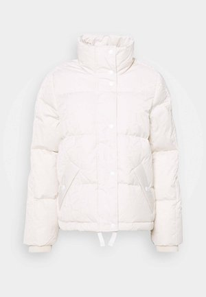 WORD JACKET - Down jacket - eggshell