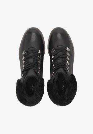 SCHNÜR-BOOTS - Lace-up ankle boots - schwarz
