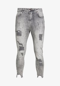 SIKSILK - RAW CUFF CROPPED SKINNY JEANS - Skinny džíny - washed grey - 3