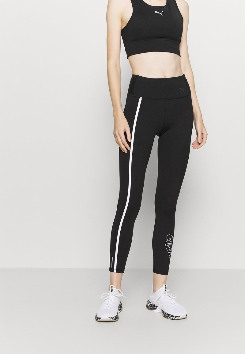 Puma - TRAIN - Leggings - black/white