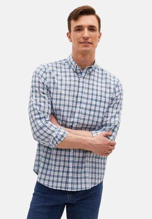Shirt - light blue, dark blue, white
