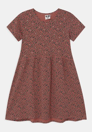 FREYA SHORT SLEEVE  - Jersey dress - chutney/gold