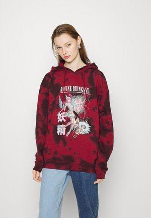 DEVINE BEINGS FAIRY TIE DYE HOODIE - Sweatshirt - red