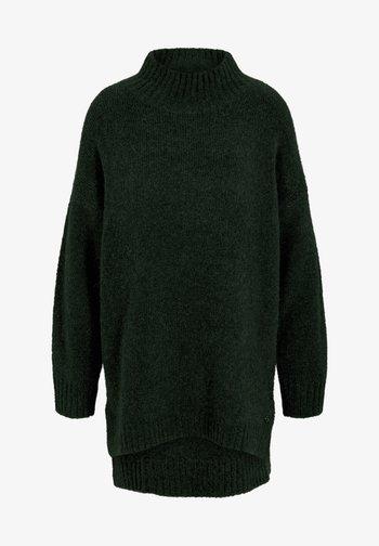MOCK NECK LONG - Pullover - deep green melange