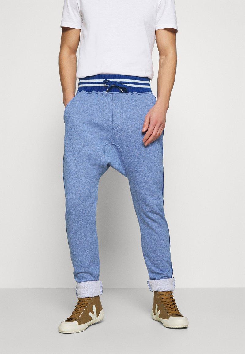 Schott - PAUL - Tracksuit bottoms - heather blue