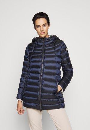 Kabát zprachového peří - navy blue dark steel